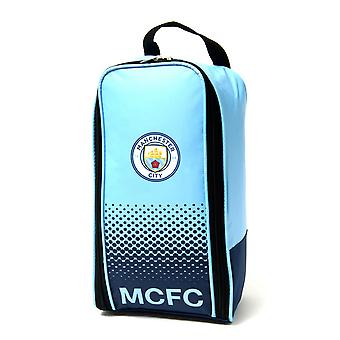 Manchester City FC Official Fade Football Crest Shoe/Boot Bag