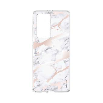 Hull For Huawei P40 Pro Soft Pink Marble Effect