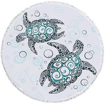 Teal Turquoise schildpadden strandlaken
