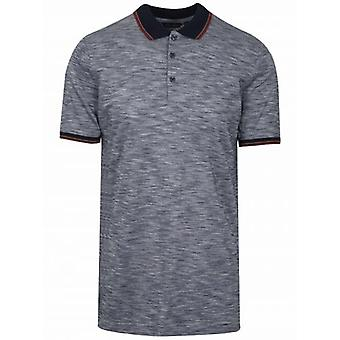 Antony Morato Navy Pattern Polo Shirt