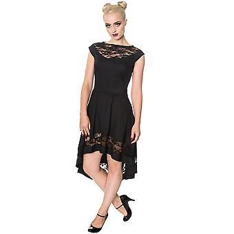 Yasaklı - gizli vadi elbisesi - women's hi-low elbise, siyah