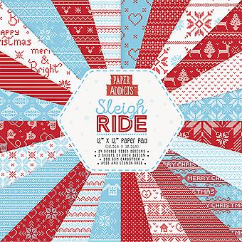 Paper Addicts Sleigh Ride 12x12 Inch Paper Pad