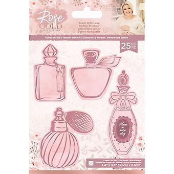 Crafter's Companion Rose Gold Stamp and Die Scent with Love