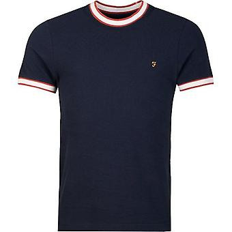 Farah Birmingham Pique Ringer T-Shirt