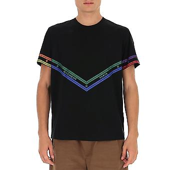 Givenchy Bm70ys3002960 Männer's schwarze Baumwolle T-shirt