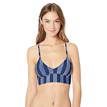 Splendid Women's X-Back Crop Swimsuit Bikini Top, Long Lines Navy, Small