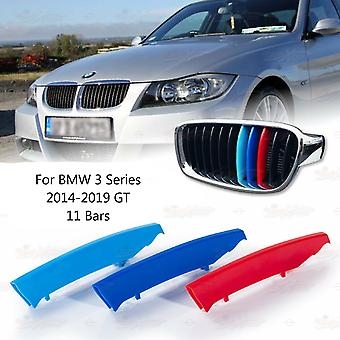 BMW 3 Series 2014-2019 GT 11 Bars Clip In Grill M Power Kidney Stripes Cover