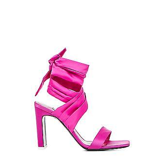 Attico 201ws005e008008 Women's Fuchsia Läder sandaler