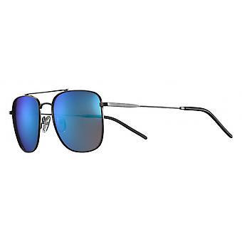 Sunglasses Unisex Cat.3 matt black/blue (JSL11692208)
