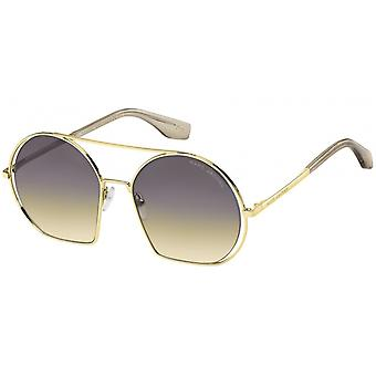 Sunglasses women round gold/brown gradient