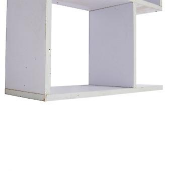 Rebecca Furniture Shelf Library 5 Planken White Wood Design 172.5x60x24.5