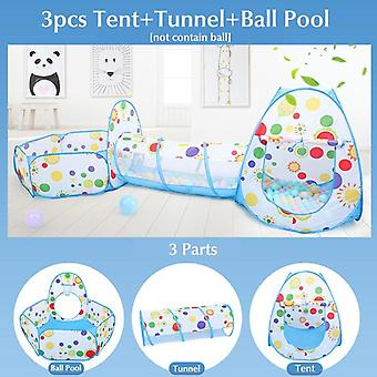 Baby Shining 3pcs Shooting Folding Portable Dry Ball Pool Children Playpen Toy - Fence Baby Indoor/outdoor Games Kids Room Tent
