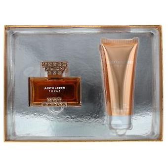 Judith Leiber Topaz Eau de Parfum 40ml & Body Lotion 100ml Gift Set For Her