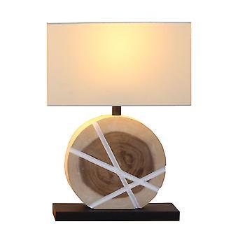 Table lamp Chiapas L Off-White & Wood natural 40 x 55.5 cm 10939