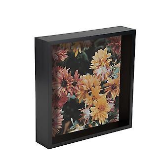 Nicola Spring Box Ramka do zdjęć - 8 x 8 kwadratowa ramka akrylowa - czarna