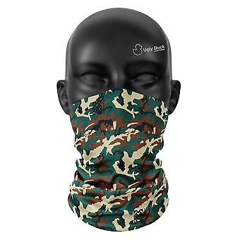 Jungle Camo Colours Snood Face Mask Scarf Neckerchief Head Covering Tube Buff