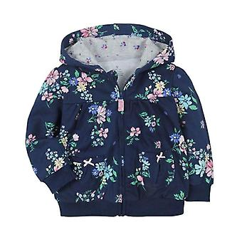 Baby Hooded Sweatshirts Cotton Cartoon Tops Flower Whale Outwear Kids Clothes