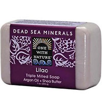 Un avec nature Dead Sea Mineral Bar Savon, Lilas 7 OZ