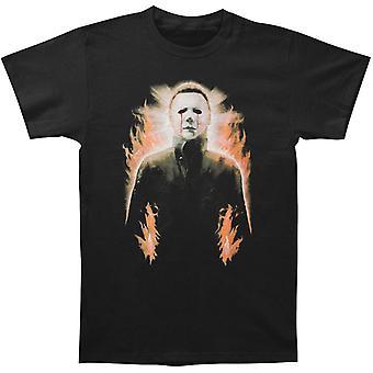 Halloween Mike Myers Vlammen T-shirt