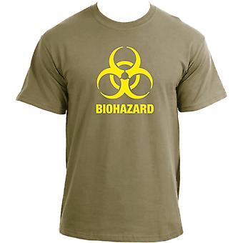 Biohazard Sign T-Shirt I Warning Danger Hazardous Logo Toxic Warning T Shirt