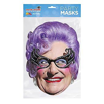 Mask-arade Jente Edna Everage Kjendiser Party Ansiktsmaske