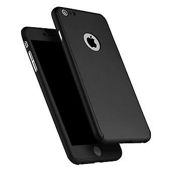 Stuff Certified® iPhone 6S Plus 360 ° Full Cover - Full Body Case Case + Screen protector Black