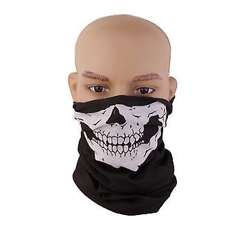 Maschera facciale teschio, scheletro di sciarpa snood collo