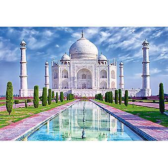 Mural de parede Taj Mahal à luz da manhã com reflexo na água