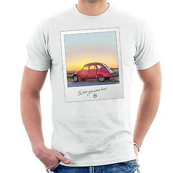 Citro?n 2CV Wish You Were Here Photo For Light Men's T-Shirt