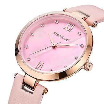 KAMLON K3001 Crystal Simple Design femmes Montre-bracelet Ultra Thin Quartz Montres