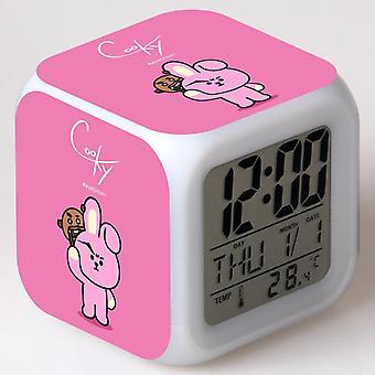 Colorful Multifunctional LED Children's Alarm Clock -BT21 #15