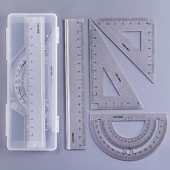 Quadrado, Régua triângulo, liga de alumínio, conjunto de tratores para desenho