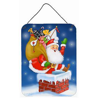 سانتا كلوز أسفل جدار المدخنة أو باب شنقا يطبع