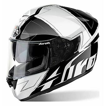 Airoh ST701 Full Face Motorcycle Helmet Black White ACU Approved Sun Visor