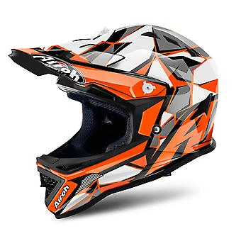 Airoh Archer Junior Chief Motocross og ATV Hjelm Glans oransje ACU Godkjent
