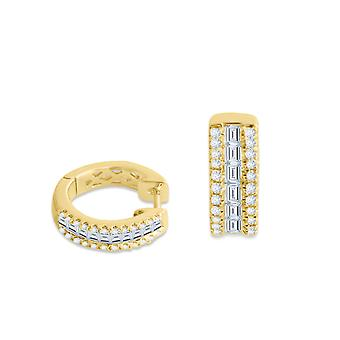 Earring Glam 18K Gold and Diamonds