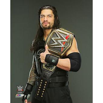 Roman Reigns with the World Heavyweight Championship Belt Photo Print (8 x 10)