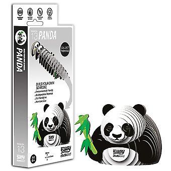 Eugy panda 3d model craft kit
