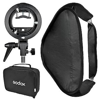 Godox 60x60 foldable universal softbox with s style speedlite bracket for flash bowens mount accesso