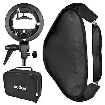 Godox 60x60 dobrável softbox universal com suporte de speedlite estilo S para flash bowens mount accesso