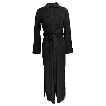 G.I.L.I. consiguió que le encanta Mujeres's Top Peached Knit Duster Negro A293046