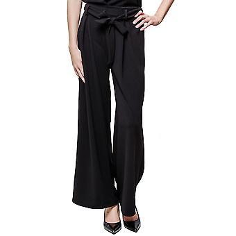 High Waist Culottes Flared Trousers Short Leg - One Size UK 6-14