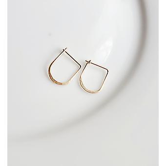 Mini Gold Jesse Hoops Earrings