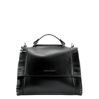 Orciani B01999libertynero Women's Black Leather Handbag