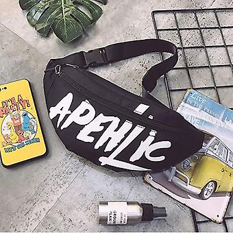 Waist Letter Fanny, Hip-hop Belt Bag & Shoulder Sling Chest Pocket Bag