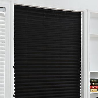 Self-adhesive Pleated Blinds Half Blackout Bathroom, Window Curtains Shades