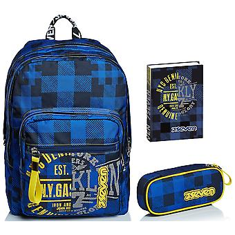 Schoolset - EXTRA FIT Seven BACKPACK + CARD RACK + DIARY - Check