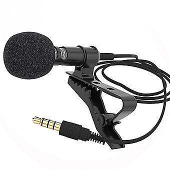Clip Tie Collar For Mobile Phone Speaking Vocal Audio Lapel Microphones (black)