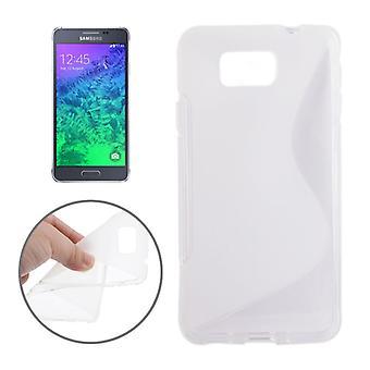 Mobile case TPU case for Samsung Galaxy Alpha transparent G850F