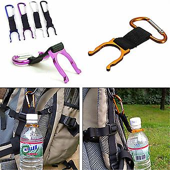 5 PCS  IPRee Camping Hiking Water Bottle Carabiner Buckle D Shape Strap Keychain Holder